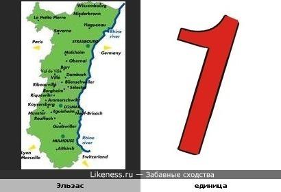 Карта Эльзаса отчасти напомнила единицу