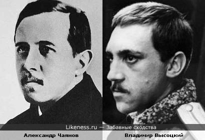 Александр Чаянов и Владимир Высоцкий