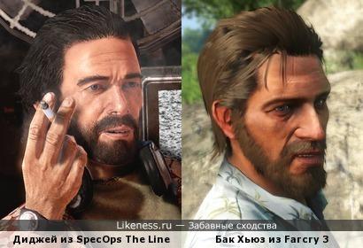 Персонажи компьютерных игр похожи