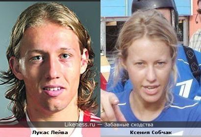Футболист Ливерпуля Лукас похож на Ксению Собчак