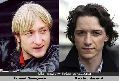Плющенко очень похож на Макэвоя, представьте его брюнетом