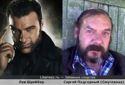 Лев Шрайбер похож на Сергея Подгорного (Смуглянка)