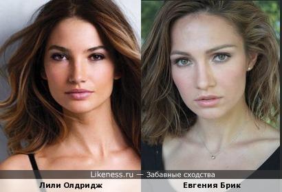 Лили Олдридж и Евгения Брик похожи