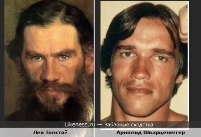 Лев Толстой похож на Арнольда Шварценеггера