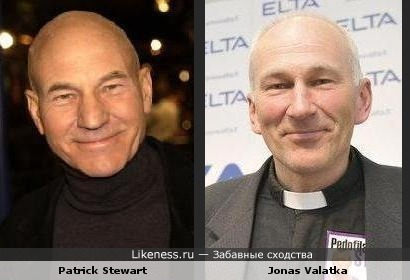 Patrick Stewart похож на Jonas Valatka