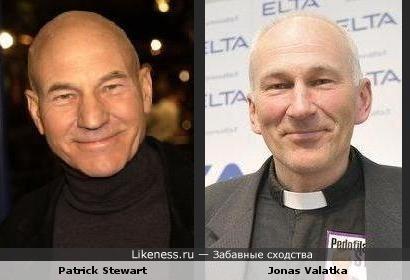 Patrick Stewart похож на Jonas Valatka