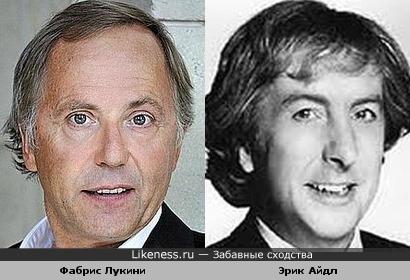 Фабрис Лукини и Эрик Айдл