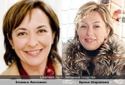 Бланка Апиланес напоминает мне Арину Шарапову