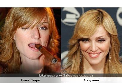 Нина Петри здесь похожа на Мадонну