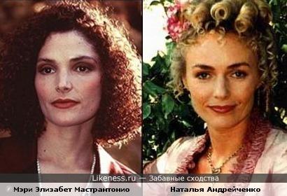 Мэри Элизабет Мастрантонио напомнила Наталью Андрейченко