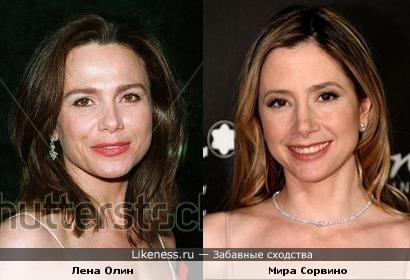 Лена Олин и Мира Сорвино