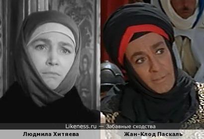 Укутанная Людмила Хитяева похожа на Османа Ферраджи
