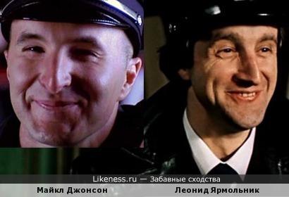 Майкл Джонсон и Леонид Ярмольник