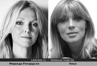 Миранда Ричардсон и Нико