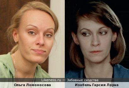 Ольга Ломоносова и Изабель Гарсия Лорка