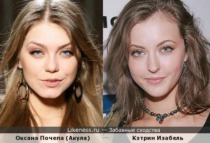 Оксана Почепа (Акула) и Кетрин Изабель
