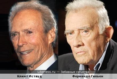 Клинт Иствуд и Фернандо Гильен