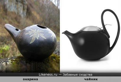Этническая свистулька окарина похожа на чайник...