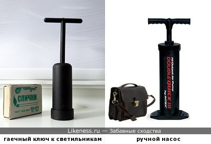 Гаечный ключ для светильников Lussole напоминает ручной насос