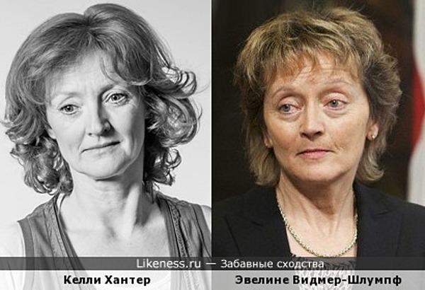 Келли Хантер и Эвелине Видмер-Шлумпф