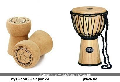 Бутылочные пробки и этнический барабан