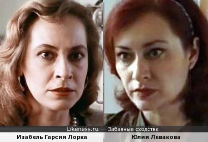 Изабель Гарсия Лорка и Юлия Левакова