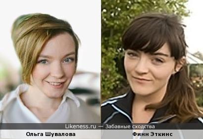 Ольга Шувалова и Финн Эткинс