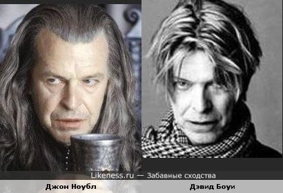 "Дэвид Боуи похож на Денетора (""Властелин колец"")."
