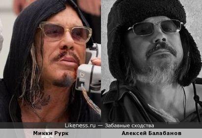 Микки Рурк и Алексей Балабанов.