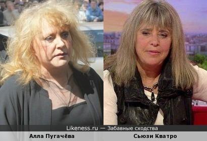 Сьюзи Кватро напомнила Аллу Пугачёву.