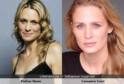 Робин Райт Пенн из Санта-Барбары и Саманта Смит из Сверхъестественного оч похожи.