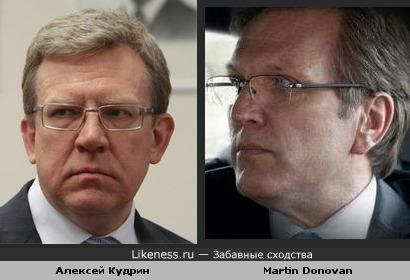 Алексей Кудрин похож на актера Martin Donovan из сериала Boss