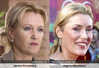 Ирина Розанова и Мария Шукшина: есть что-то общее.