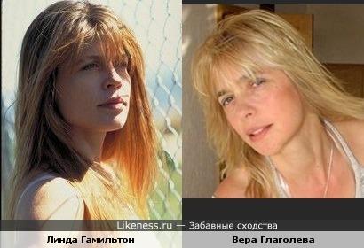 Вера Глаголева похожа на Линду Гамильтон