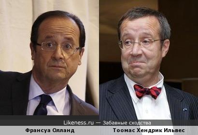 Франсуа Олланд (президент Франции) vs Тоомас Хендрик Ильвес (президент Эстонии)