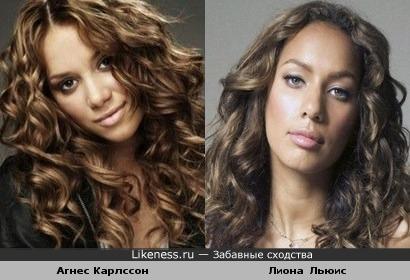 Агнес похожа на Лиону