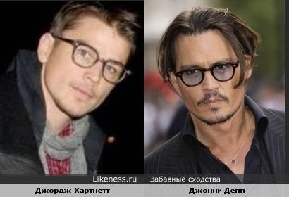 Джордж Хартнетт в очках похож на Джонни Деппа