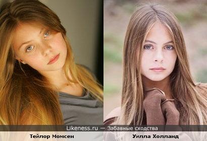 Тейлор Момсен в детстве похожа на Уилла Холланда из сериала СТРЕЛА