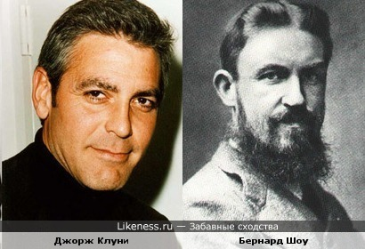 Клуни похож на Бернарда Шоу