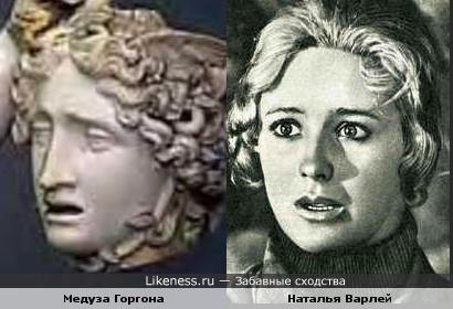 Наталья Варлей похожа на Медузу Горгону