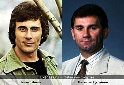 Гойко Митич похож на Василия Циблиева