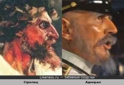 Стрелец на картине В . Сурикова напоминает адмирала в фильме С. Маруямы