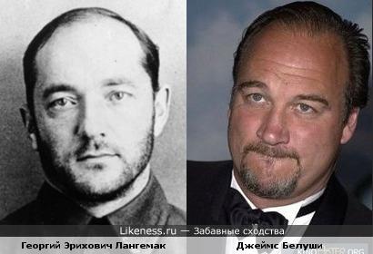 Джеймс Белуши похож на Георгия Эриховича Лангемака
