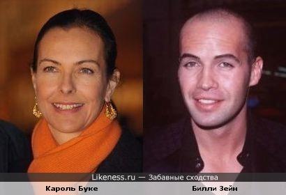 Билли Зейн похож на Кароль Буке