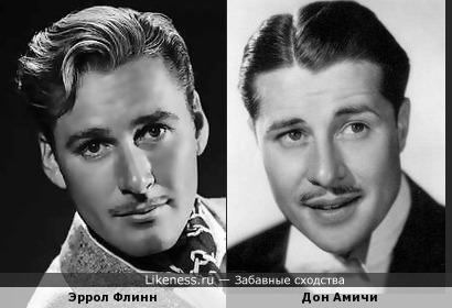 Дон Амичи похож на Эррола Флинна