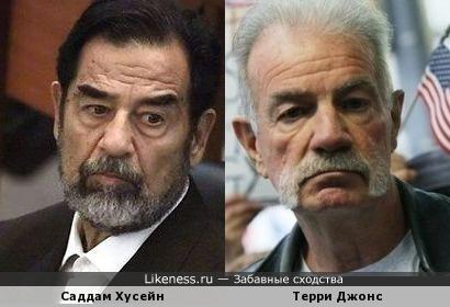 Пастор Терри Джонс вроде бы похож на Саддама Хусейна