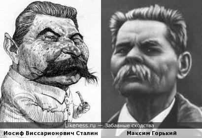 Карикатура на Сталина напоминает Горького