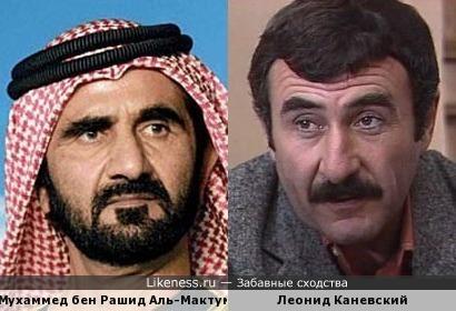 Шейх Мухаммед похож на Леонида Каневского