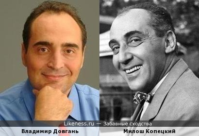 Владимир Довгань похож на Милоша Копецкого