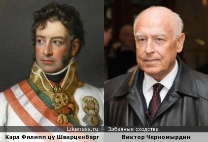 Фельдмаршал Шварценберг похож на Черномырдина, как сын на отца